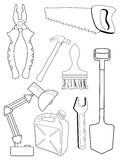Set of different tools Royalty Free Stock Photography