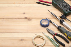 Set of different tools for repair and construction Royalty Free Stock Photos