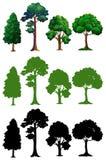 Set of different tree royalty free illustration