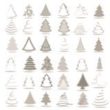 Set of 36 different trees. Set of 9 different abstract trees Stock Photos