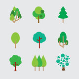 Set Of Different Trees Royalty Free Stock Images