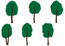 Set of different trees Royalty Free Stock Image