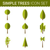 Set of different trees, rocks, grass. Sprites for the game. vector flat forests illustrations Stock Photo
