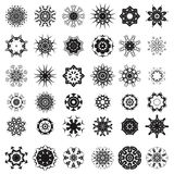 Set of Different Tribal Rosettes Tattoo. Design Isolated on White Background. Polynesian Design Royalty Free Stock Images