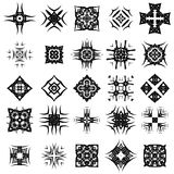 Set of Different Tribal Rosettes Tattoo Design. On White Background. Polynesian Design Stock Photography