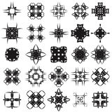 Set of Different Tribal Rosettes Tattoo Design. On White Background. Polynesian Design Royalty Free Stock Image