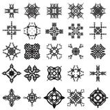 Set of Different Tribal Rosettes Tattoo. Design  on White Background. Polynesian Design Stock Photos