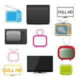 Set of different tv Stock Image