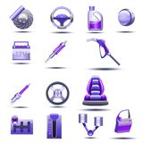 Set different type of stuff for vehicle Royalty Free Stock Image