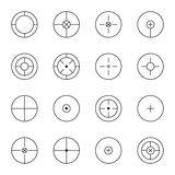 Set of different types  crosshair Stock Photography