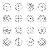 Set of different types crosshair Royalty Free Stock Image