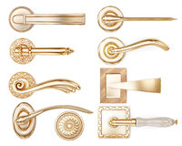 Set of different types of door handles. 3d rendering Stock Photo
