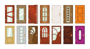 Set of different types of doors. Vector illustration royalty free illustration