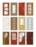 Set of different types of doors. Stock Photo