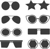 Set of different types of glasses stock illustration