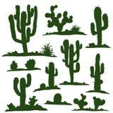 Set of green cacti Royalty Free Stock Photo