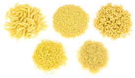 Set of different types of pasta Royalty Free Stock Image