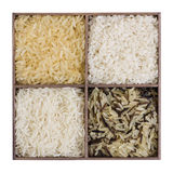 Set of different types of rice Royalty Free Stock Images