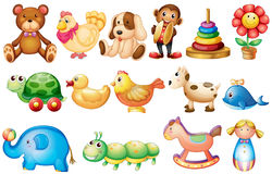 Set of different types of toys Royalty Free Stock Photos