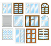 Set of different types of windows. Royalty Free Stock Photos