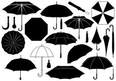 Set of different umbrellas Royalty Free Stock Image