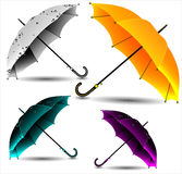 Set of different umbrellas Stock Image