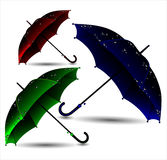 Set of different umbrellas Royalty Free Stock Photography