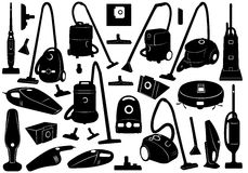 Set Of Different Vacuum Cleaners Stock Photos