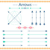 Set of different vector arrows Royalty Free Stock Photography