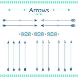 Set of different vector arrows Royalty Free Stock Photos