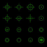 Set of  different vector crosshairs Stock Images