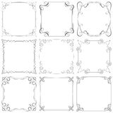 Set of different vector decorative frames Royalty Free Stock Images