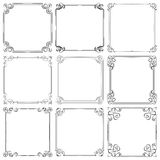 Set of different vector decorative frames Royalty Free Stock Photography