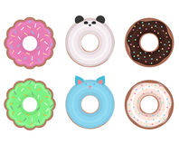 Set of different vector donuts. Stock Image