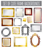 Set of different vector frames Royalty Free Stock Image