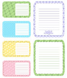 Set of different vector note papers adhesive remind. Business office memo message notepad paper note page. Remember space frame paper note post reminder sheet Stock Images