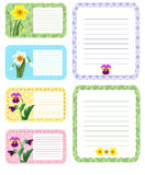 Set of different vector note papers adhesive remind. Business office memo message notepad paper note page. Remember space frame paper note post reminder sheet Stock Image