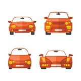 Set of different vector passenger cars in flat style.  Royalty Free Stock Image