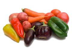 Set of different vegetables Royalty Free Stock Photo