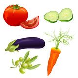 Set of different vegetables Stock Photos