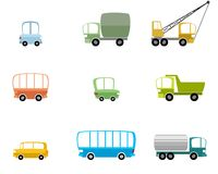 Set of different vehicles. Vector illustration of set of different vehicles royalty free illustration