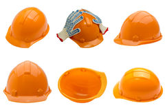 Set of 6 different views of helmets Stock Image