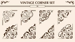 Vintage corner set Royalty Free Stock Photo