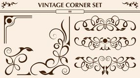Vintage corner set Stock Images