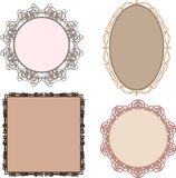 Set of different vintage style frames Stock Image