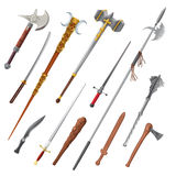Set of different weapons. Vector isolated objects Royalty Free Stock Photography