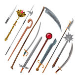 Set of different weapons Royalty Free Stock Photos