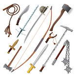 Set of different weapons royalty free stock image