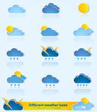Set of different weather icons Stock Photography