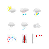 Set of different Weather icons Royalty Free Stock Images